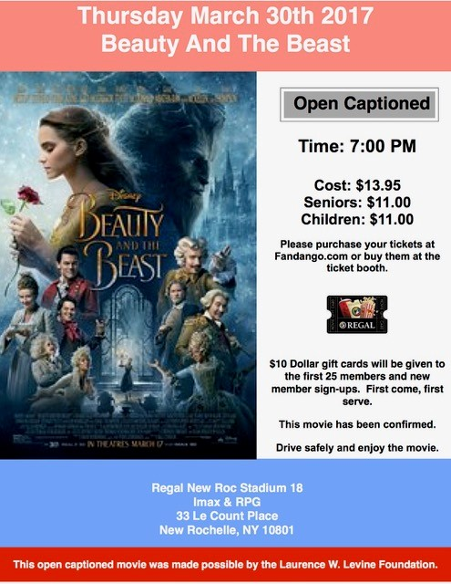 Beauty And The Beast – D E A F  Open Caption Movies